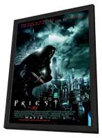 Priest - 27 x 40 Movie Poster - Style B - in Deluxe Wood Frame