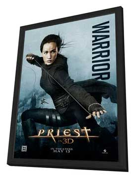 Priest - 11 x 17 Movie Poster - Style B - in Deluxe Wood Frame