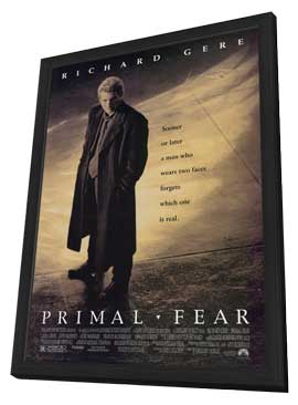 Primal Fear - 11 x 17 Movie Poster - Style A - in Deluxe Wood Frame