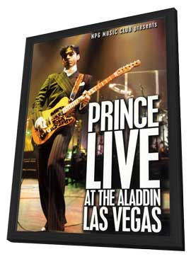Prince Live at the Aladdin Las Vegas - 27 x 40 Movie Poster - Style A - in Deluxe Wood Frame