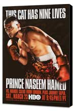 Prince Naseem Hamed vs Manuel Calvo - 11 x 17 Boxing Promo Poster - Style A - Museum Wrapped Canvas