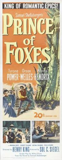 Prince of Foxes - 14 x 36 Movie Poster - Insert Style A