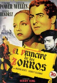 Prince of Foxes - 11 x 17 Movie Poster - Spanish Style A