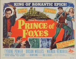 Prince of Foxes - 11 x 17 Movie Poster - Style B