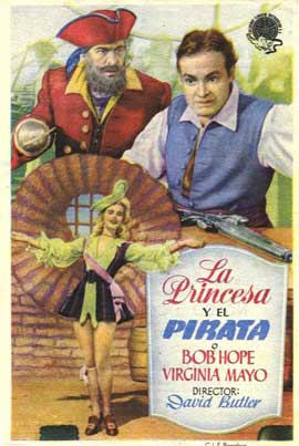 The Princess and the Pirate - 11 x 17 Movie Poster - Spanish Style A