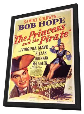 The Princess and the Pirate - 11 x 17 Movie Poster - Style A - in Deluxe Wood Frame