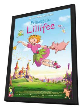 Princess Lillifee - 27 x 40 Movie Poster - German Style A - in Deluxe Wood Frame