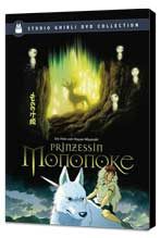 Princess Mononoke - 11 x 17 Movie Poster - German Style A - Museum Wrapped Canvas