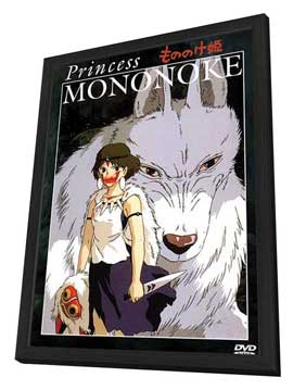 Princess Mononoke - 27 x 40 Movie Poster - Style C - in Deluxe Wood Frame