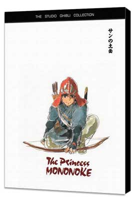 Princess Mononoke - 11 x 17 Movie Poster - Style D - Museum Wrapped Canvas