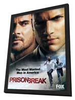 Prison Break (TV) - 11 x 17 TV Poster - Style E - in Deluxe Wood Frame