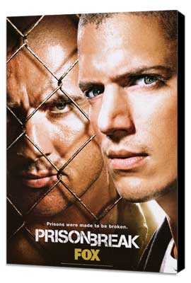 Prison Break (TV) - 27 x 40 TV Poster - Style E - Museum Wrapped Canvas
