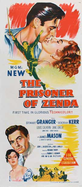Prisoner of Zenda - 13 x 30 Movie Poster - Australian Style A
