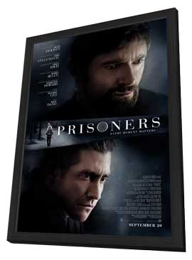 Prisoners - 27 x 40 Movie Poster - Style A - in Deluxe Wood Frame