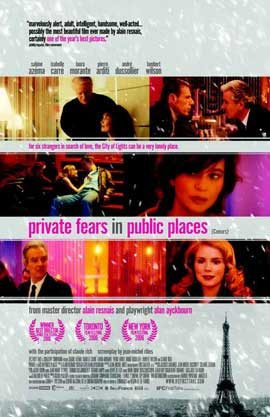 Private Fears in Public Places - 11 x 17 Movie Poster - Style A