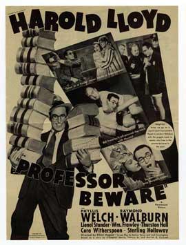 Professor Beware - 27 x 40 Movie Poster - Style C