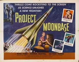 Project Moon Base - 22 x 28 Movie Poster - Half Sheet Style A