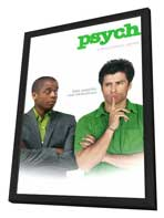 Psych - 11 x 17 TV Poster - Style A - in Deluxe Wood Frame