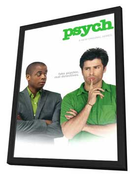 Psych - 27 x 40 TV Poster - Style A - in Deluxe Wood Frame