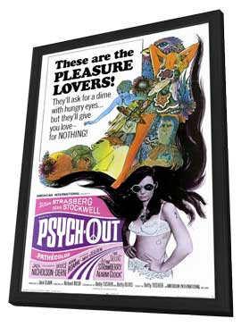 Psych-Out - 11 x 17 Movie Poster - Style A - in Deluxe Wood Frame