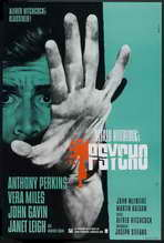Psycho - 27 x 40 Movie Poster - German Style A