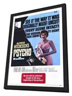 Psycho - 11 x 17 Movie Poster - Style A - in Deluxe Wood Frame