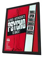 Psycho - 11 x 17 Movie Poster - Style B - in Deluxe Wood Frame