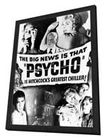 Psycho - 11 x 17 Movie Poster - Style C - in Deluxe Wood Frame