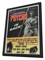 Psycho - 11 x 17 Movie Poster - Style J - in Deluxe Wood Frame