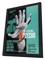Psycho - 27 x 40 Movie Poster - German Style A - in Deluxe Wood Frame