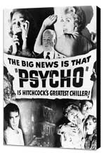 Psycho - 27 x 40 Movie Poster - Style C - Museum Wrapped Canvas