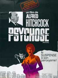 Psycho - 27 x 40 Movie Poster - French Style A