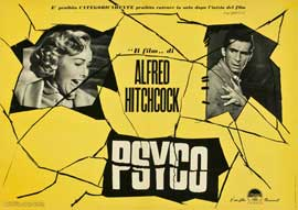 Psycho - 27 x 40 Movie Poster - Italian Style A
