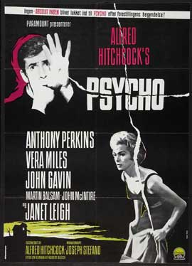 Psycho - 27 x 40 Movie Poster - Danish Style A