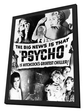 Psycho - 27 x 40 Movie Poster - Style C - in Deluxe Wood Frame