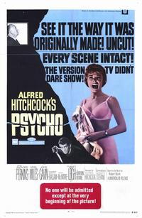 Psycho - 11 x 17 Movie Poster - Style A - Museum Wrapped Canvas