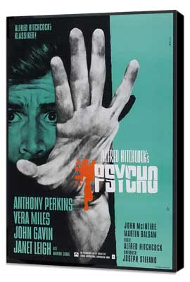 Psycho - 27 x 40 Movie Poster - German Style A - Museum Wrapped Canvas