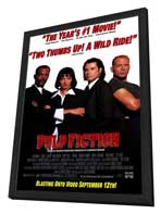 Pulp Fiction - 27 x 40 Movie Poster - Style F - in Deluxe Wood Frame