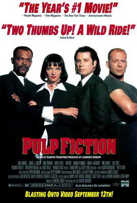 Pulp Fiction - 27 x 40 Movie Poster - Style F