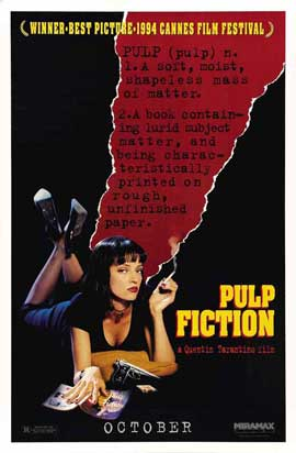 Pulp Fiction - 27 x 40 Movie Poster - Style G