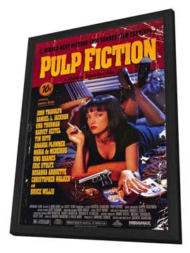 Pulp Fiction - 11 x 17 Movie Poster - Style B - in Deluxe Wood Frame
