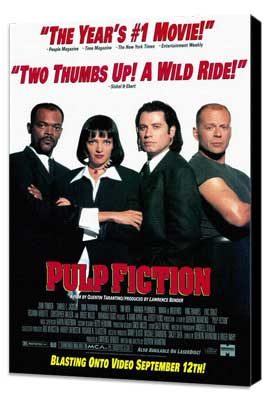 Pulp Fiction - 11 x 17 Movie Poster - Style A - Museum Wrapped Canvas