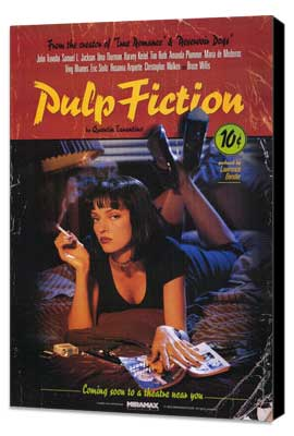 Pulp Fiction - 27 x 40 Movie Poster - Style B - Museum Wrapped Canvas