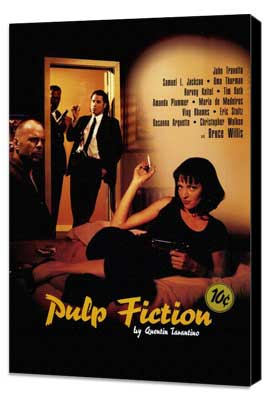 Pulp Fiction - 27 x 40 Movie Poster - Style C - Museum Wrapped Canvas