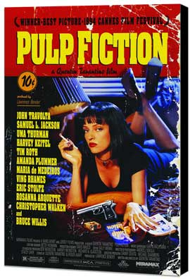 Pulp Fiction - 27 x 40 Movie Poster - Style A - Museum Wrapped Canvas