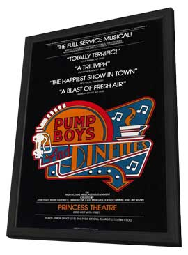 Pump Boys and Dinettes (Broadway) - 11 x 17 Poster - Style A - in Deluxe Wood Frame