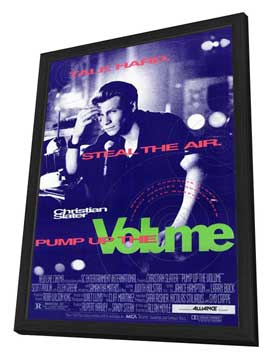Pump Up the Volume - 27 x 40 Movie Poster - Style A - in Deluxe Wood Frame