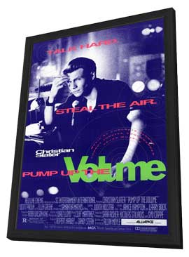 Pump Up the Volume - 11 x 17 Movie Poster - Style A - in Deluxe Wood Frame