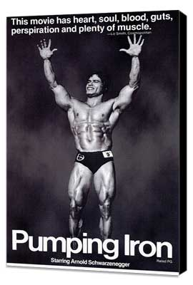 Pumping Iron - 11 x 17 Movie Poster - Style A - Museum Wrapped Canvas