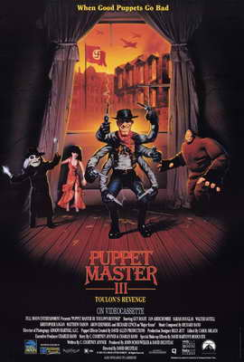 Puppet Master 3: Toulon's Revenge - 27 x 40 Movie Poster - Style A